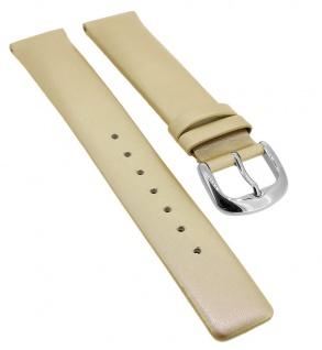 Bruno Banani Ersatzband 17mm beige Leder glänzend glatt CD3386 CD3387