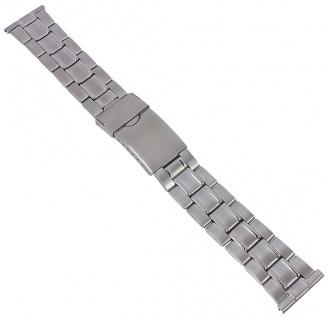 Minott Edelstahl Band 22mm Uhrenarmband Herren silberfarben 29767S