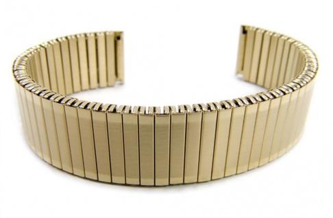 Minott Flex Band Uhrenarmband Edelstahl Zugband Goldfarben 16mm 21076