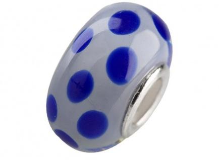 Charlot Borgen Marken Damen Bead Beads Drops Kristallglas Silberkern GPS-44Blau