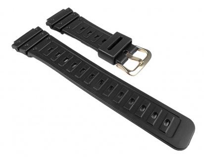 Casio Uhrenarmband Resin Band schwarz für DW-5600C SWC-05