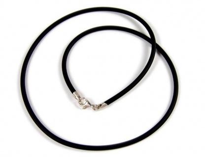 Minott Kautschuk-Band Kette Halsband schwarz Ø ca. 3mm 22073