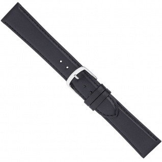 Uhrenarmband Ersatzband Leder Band Schwarz 26552S