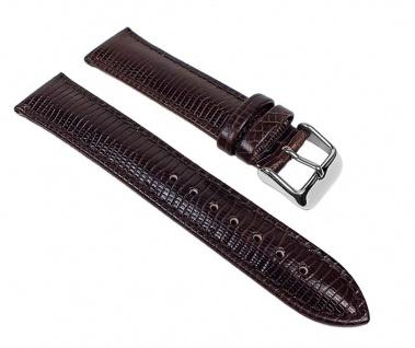 Lizard-Print Ersatzband Uhrenarmband Kalbsleder Dunkelbraun 22896S