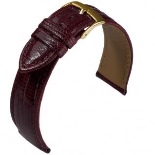 Uhrenarmband aus echtem Teju Eidechsenleder bordeaux 35396