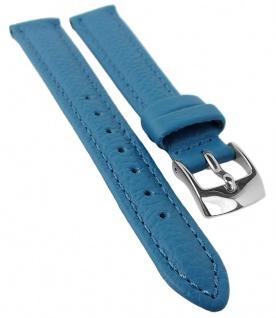 Eulit Fancy Classic Uhrenarmband Rindsleder Band Blau 25466S