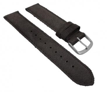 Uhrenarmband Sylt Veloursleder Band grau 26781S