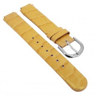Bruno Banani Ersatzband 12mm aus Leder in gelb Kroko Optik Schließe silbern CC3889