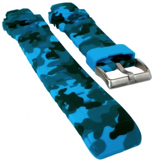 Calypso Uhrenarmband Kunststoff blau Camouflage K5723/4