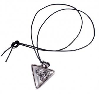 Minott Kette schwarzes Lederband zum verknoten mit Anhänger Dreieck 21299