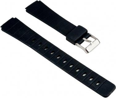 Eulit Uhrenarmband Kunststoff Band Schwarz 25554S