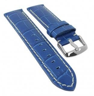 Uhrenarmband Guinea Chrono Ersatzband Kalbsleder Band blau 18mm - 24mm 30065
