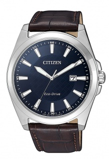 Citizen Armbanduhr | Eco-Drive Solarzelle | Lederband, braun | Datumsanzeige > BM7108-22L