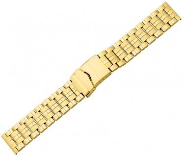 Minott Ersatzband Edelstahl PVD gelbgoldfarben glänzend/matt Sicherheitsschließe - Vorschau