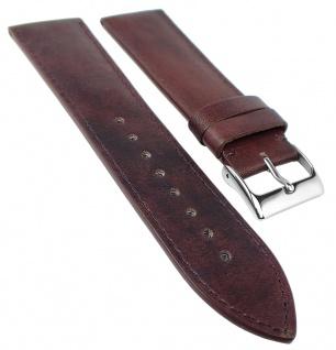 Herzog Ersatzband Uhrenarmband 18mm, 20mm, 22mm | Kalbsleder, burgund-rot, Handmade in Italy 32217