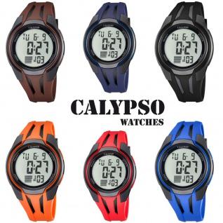 Calypso Herrenarmbanduhr Quarzuhr Kunststoffuhr mit Polyurethanband Alarm-Chronograph digital alle Modelle K5703