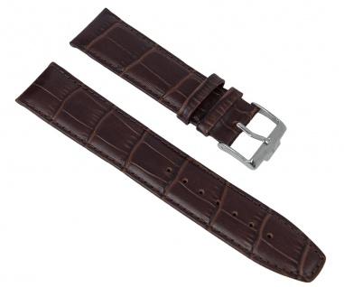 Uhrenarmband Ersatzband Leder braun in Kroko-Optik passend zu Jacques Lemans London JL 1-1619