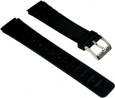Minott Uhrenarmband Kunststoff Band schwarz 25556S