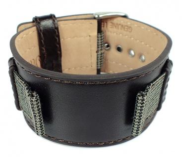 s.Oliver Ersatzband 18mm Leder/ Textil braun Unterlageband SO-1884-LQ