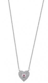 Lotus Silver Halsschmuck Collier Kette mit Herz Anhänger Silber LP1942-1/1