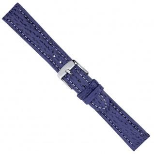 Minott Uhrenarmband Ersatzband Leder Band Blau 26560S