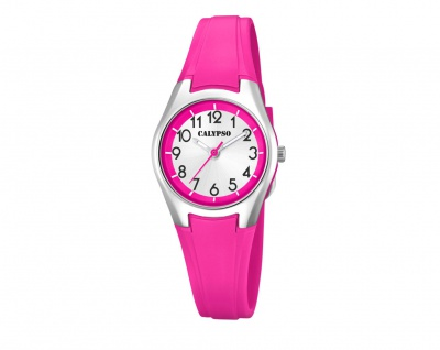 Calypso Kinderarmbanduhr pink Quarzuhr Analoguhr Kunststoff Band K5750/2
