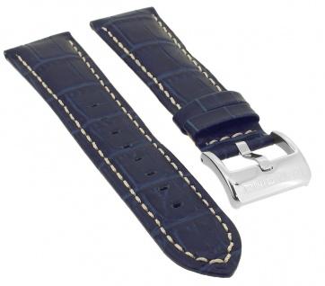 Candino Watches Ersatzband 23mm blau Uhrenarmband Leder Band Krokoprägung C4372 C4372/8
