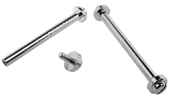 Minott Schrauben | 2x Ersatzschrauben Ø 1, 45mm aus Edelstahl für Mittelbänder in silberfarben 32764