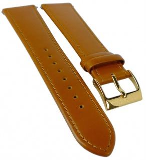 Junghans Meister Chronoskope Ersatzband 21mm Leder glatt braun Naht 027/5382