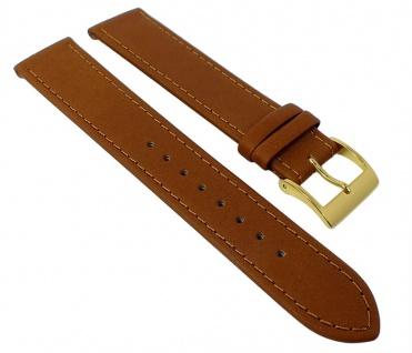 Junghans MAX BILL Uhrenarmband Leder braun 18mm 027/5703