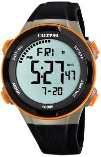 Calypso digitale Armbanduhr | Kunststoffgehäuse & Band > mehrfarbig | Datum > Alarm K5780/3