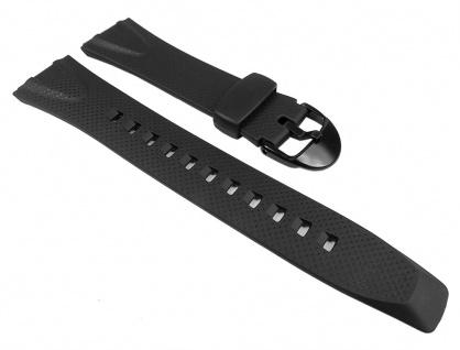 Casio Uhrenarmband Resin Band schwarz für W-751 W751-1 W-751-4