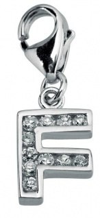 Minott Charms Anhänger Buchstabe F mit Zirkonia 925/-Silber CMM105-F