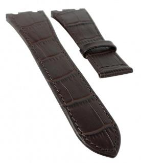 Jaguar Swiss Made Ersatzband Uhrenarmband Leder dunkelbraun mit Krokoprägung für J666 J667 J670 J696