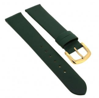 Herzog Uhrenarmband Kalbsleder | Ersatzband aus grünem Leder ohne Naht 33735