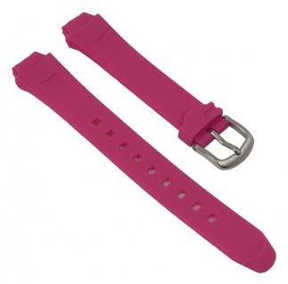 Uhrenarmband Ersatzband Damen Kunststoff PU-Band Pink passend zu Timex T5K771