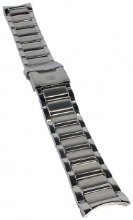 Casio Armband | Uhrenarmband Edelstahl Band Silberfarben für Edifice EF-561D