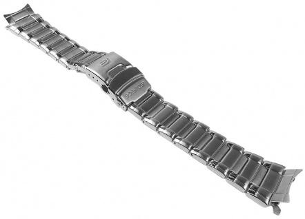 Casio Edifice Uhrenarmband Edelstahl Band silberfarben für EFA-127D