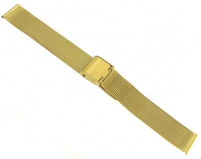 Timex Metropolitan Starlight Ersatzband 16mm Milanaise Edelstahl gelbgoldfarben | TW2R50600