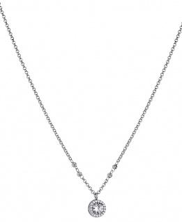 Lotus Silver Halsschmuck Collier Kette mit Anhänger und Zirkonia Silber LP1521-1/1