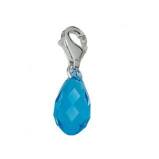 Minott Charms Anhänger Kristall blau 925/-Silber CMM033