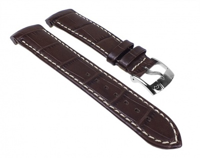 Jaguar Uhrenarmband Leder Band Dunkelbraun für J628 / ID24163