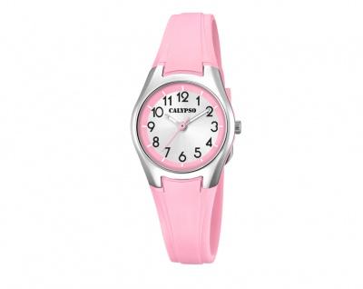Calypso Kinderarmbanduhr rosa Quarzuhr Analoguhr Kunststoff Band K5750/4