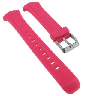 Calypso Ersatzband aus Silikon in pink mit Schließe silberfarben Spezial Anstoß K5744/2