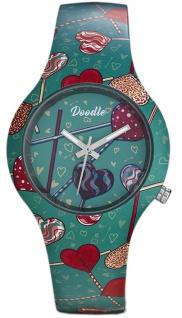 DOODLE WATCH Armbanduhr für SIE Silikon bunt Graphics Mood Ø 35mm DO35009