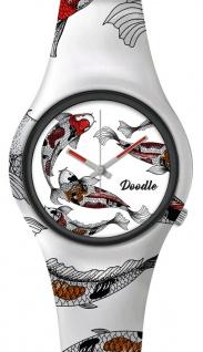 DOODLE WATCH ? Armbanduhr für SIE& IHN Ø 39mm   Silikonband > Koikarpfen > DOAR001