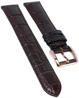 Hugo Boss | Uhrenarmband Leder Band braun mit Krokoprägung 16mm Modell 1502313