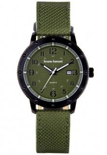 Bruno Banani Geros Armbanduhr Edelstahl grün Herrenuhr Analog Quarz 3ATM Datum BR30005