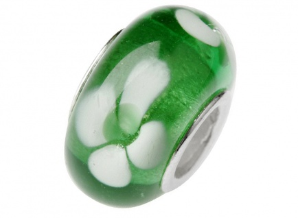 Charlot Borgen Marken Damen Bead Beads Drops Kristallglas Silberkern GPS-03Grün
