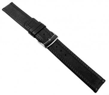 Balance Uhrenarmband Velour- und Glattleder schwarz 20593S